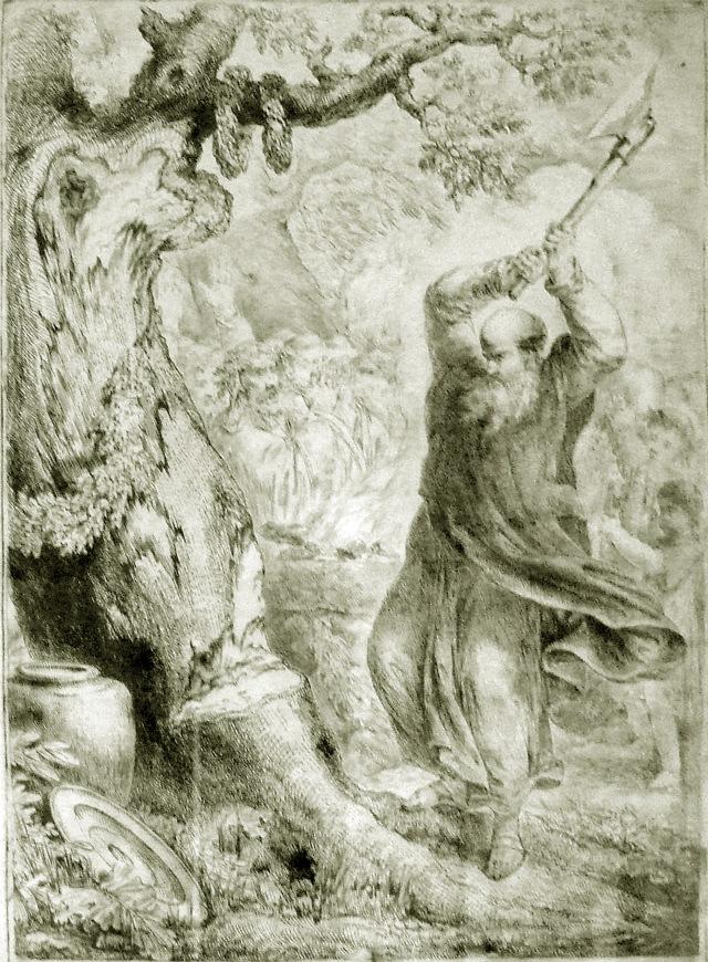O caráter solar de Donar fez que a interpretatio romana o assimilasse a Hércules. E no ano 725 cortou-lhe São Bonifacio o carbalho que lhe tinham consagrado em Geismar (Hesse),
