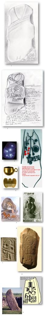 Evolução arqueológica do promtema da [A]Moura e o Príncipe em a estela funerária celtoatlántica segundo A. Pena