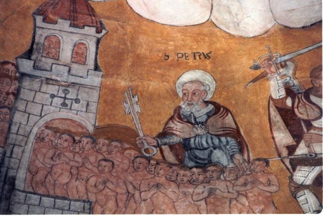 São Pedro de Castrelo de Minho. Pinturas da absida. Foto de Alicia Paz Súarez-Ferrín