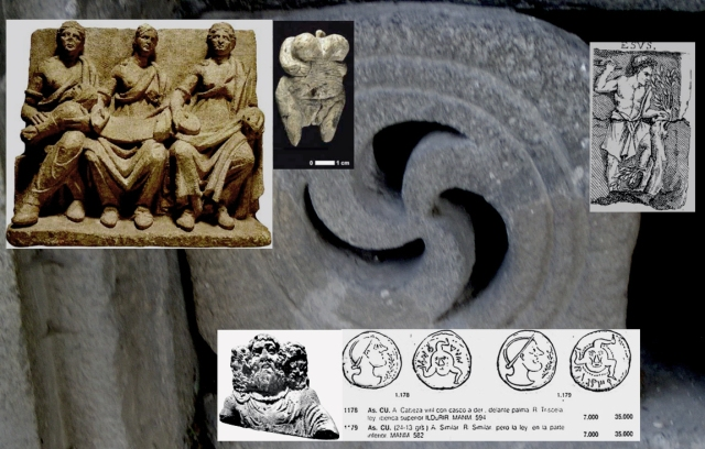 TOP: The Paleolithic conception of the Earth as fruitful Mater evolves in the Neolithic period, with the staging of the agricultural cycle, to the three Matres. Young (Mater) Lady, meaning