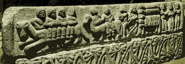 Psychopompa Iconna, Epona Rhiannon historiada -as cenas mais antigas- no sartego ou cenotáfio de Egas Moniz de Riba Douro, dito O Aio morto em 1146