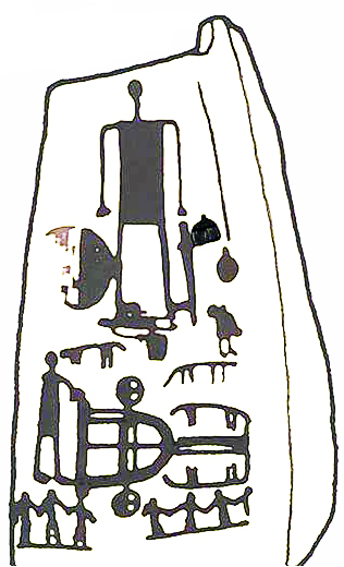 Espelho, pente, sutti, carro, armas, e baile funerário do abelhón en Ategua, Córdoba