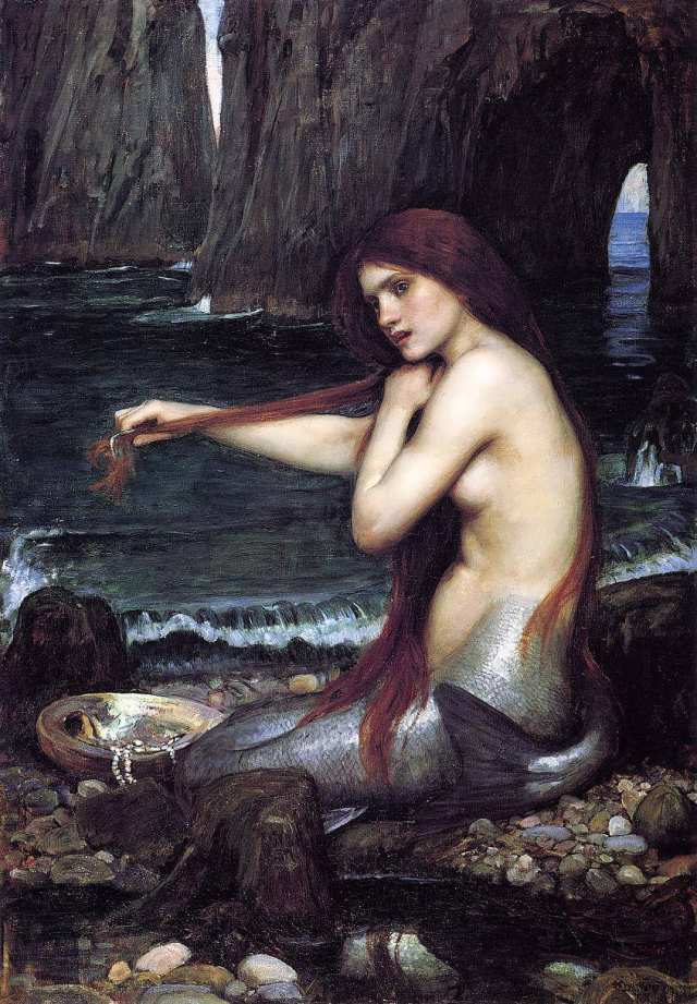 John William Waterhouse. A Mermaid (Melusina)