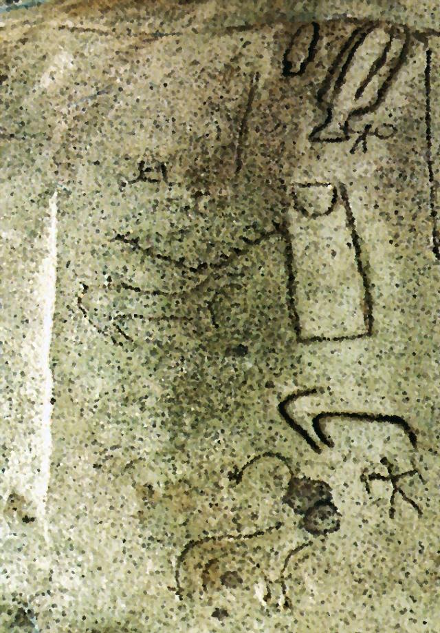 Programa iconográfico da Caça Selvagem na Pedra das Procissões de Agua da Lage, em Gondomar, Pontevedra
