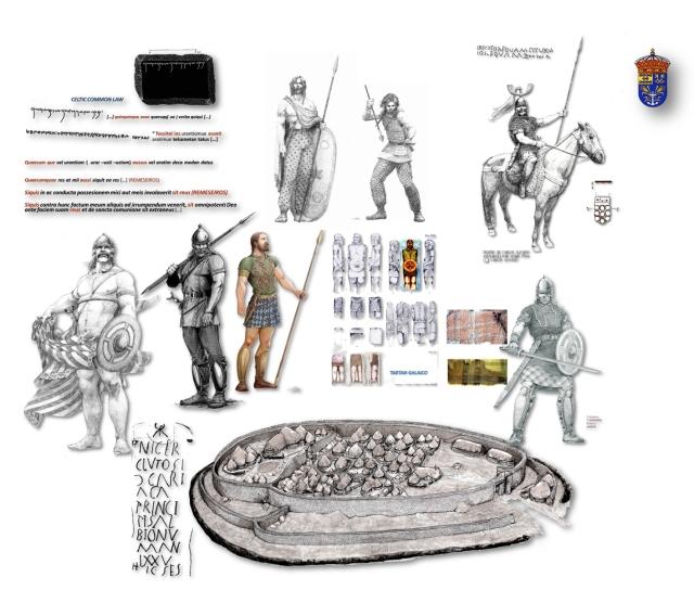 Gentes (bellatores, corio) do castro celtogalaico por Carlos Alfonzo ex A. Pena