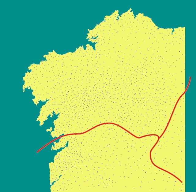 Distribution [aproximately 10%] of Galician forts