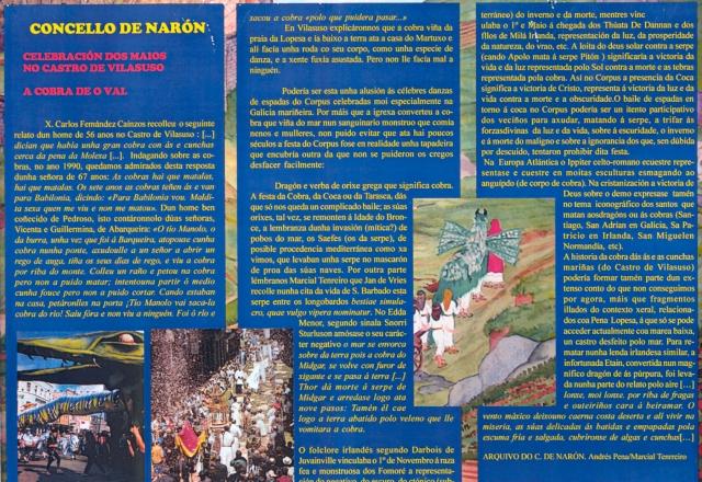 Comentário da Coca ou Tarasca do desenho Maios do Castro de Vilasuso de Eva Merlán. Narón 2000.