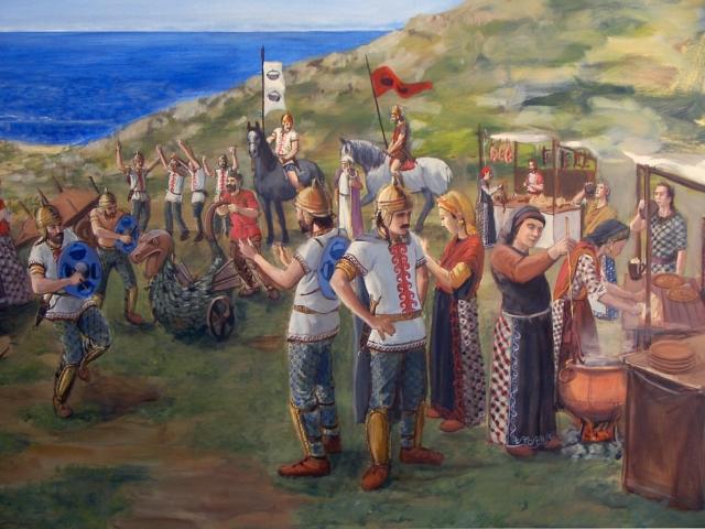 """<em>Detalhe da Celebração da </em>Beltaine<em> ou 1º de Maio, no Castro de Baronha. Dança de espadas do </em>corio<em> mozos em idade militar do Castro, fechando o """"Ciclo [de expulsão] do Inverno"""" (encarnado na Coca ou Tarasca) . Por Carlos Alfonzo (ex A. Pena) © Carlos Alfonzo. A festa transladou-se ao </em>Corpus<em> no presente cristão. É Cristo, a Luz do Mundo o que expulsa as forças do frio e a escuridão.</em>"""