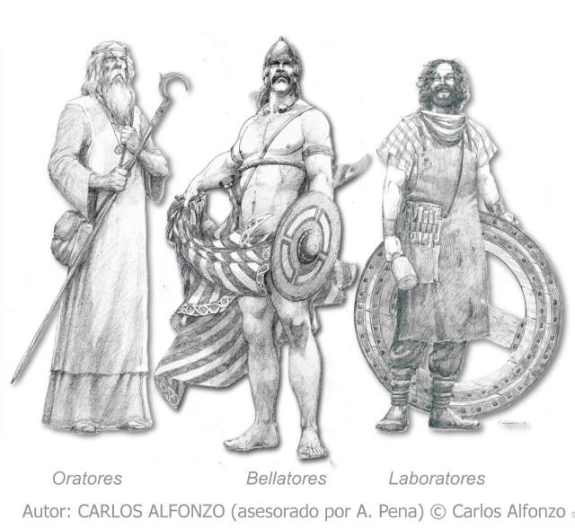 Desenho de Carlos Alfonzo (ex A. Pena) © Carlos Alfonzo.Oratores Bellatores Laboratores