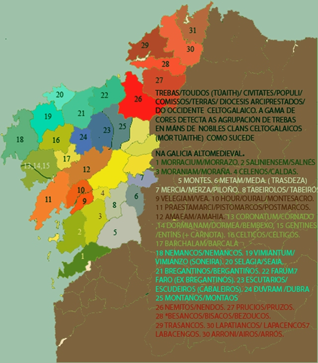 TREBAS, TOUDOS, TERRAS, COMISSOS Y COMITATOS