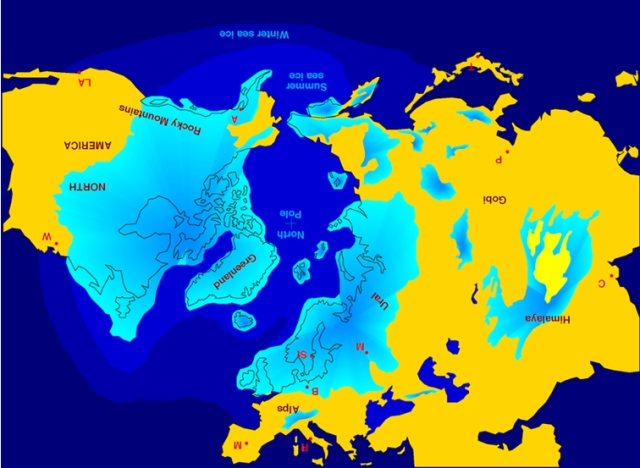 If the Ice Age glacial advance forced the Palaeolithic Europeans to seek shelter from climate in places such as the Atlantic Lands End of NW Iberia, Finisterre,