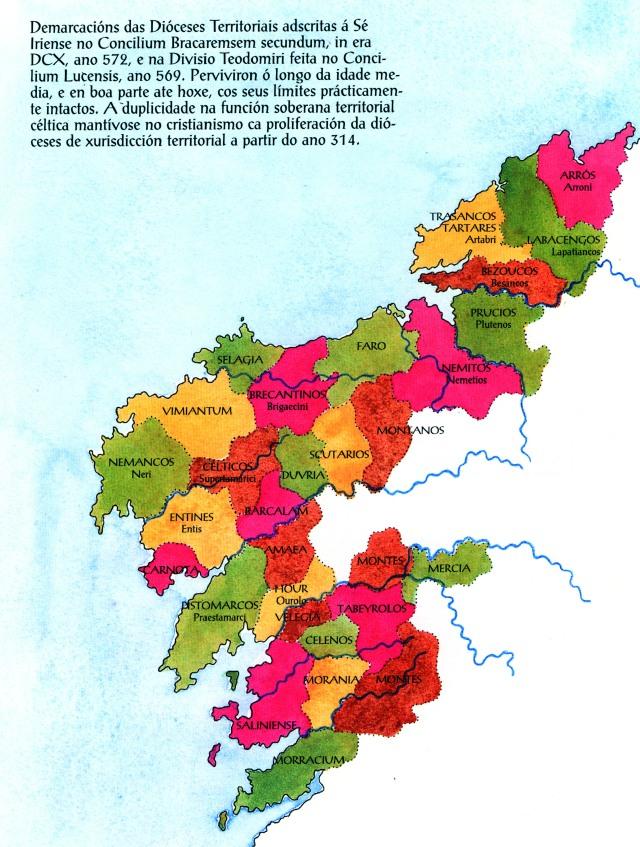 udos, Ciuitates/Populi, Territorios e Diocesis Medievais