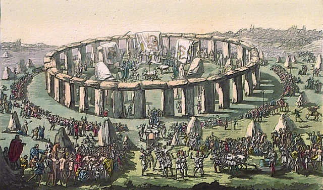 Stonehenge. By Jules Ferrario. Published by Jules Ferrario, Milan. Copper engraving; hand colored, 1827.