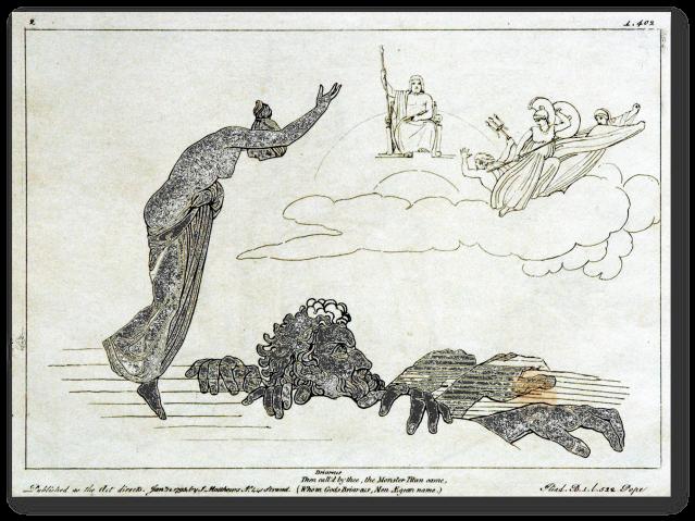 Briareo. Flaxman Ilias 1795
